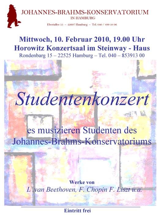 Johannes Brahms Konservatorium Reminiszenzen 2010